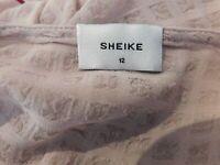 Sheike Dress V-neck Nude Sz 12 Flared sleeves