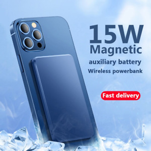 15W Magnetic Power Bank 5000mAh For magsafe auxiliary battery For Iphone 12