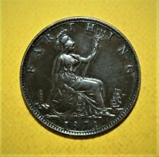 Great Britain 1 Farthing 1873 Uncirculated Coin - Queen Victoria