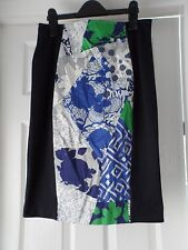 Per una ladies black skirt with floral panel detail size 10