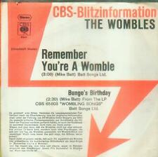 "7"" Wombles/Remember You´re A Womble (CBS Blitzinformation)"