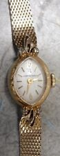 Vintage HAMILTON 17 Jewel Wind Women's Watch w / Diamond Chips AS-IS for Repair