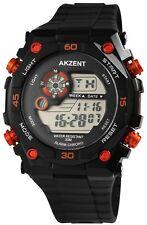 Hombres Reloj De Pulsera Negro Rojo Blanco + Caja Digital S-24200008003650