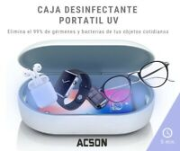 UV esterilizador Caja de Desinfección Elimina Virus + Carga Wireless De Moviles