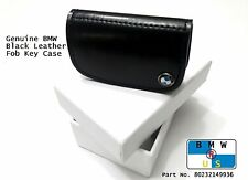 BMW NEW OEM Genuine Black Nappa Leather Fob Key Case 80232149936