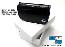 BMW NEW OEM Genuine Black Nappa Leather Fob Key Case 80232149936