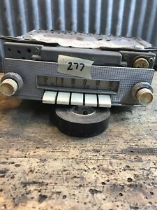 #277 Vtg 1956-59 FORD MAINLINE FAIRLINE  Push Button Car Radio Hot Rat Rod