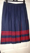 Murray Brothers Scottish Woolen Mills Ladies Tartan Plaid Kilt Skirt Size 16