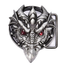 Men's belt buckle 7.3cm dragon head black pattern bronze metal pin buckles KY