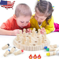 2020 Wooden Memory Match Stick Chess Game Children Kids Puzzle Educational Toy