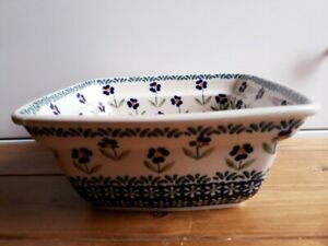 Handmade Fruit Bowl, Polish ceramic, microwave, dishwasher, oven safe.