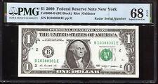 2009 $1 Federal Reserve Note with Fancy RADAR Serial # PMG Superb Gem 68EPQ