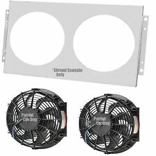 """1978-1987 Buick Regal Aluminum Shroud #162 & 12"""" Dual Fans with Relay Wiring Kit"""