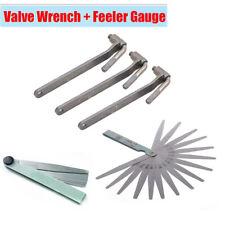 3Pcs 8/9/10mm Motorcycle Metal Valve Wrench + Feeler Gauge Adjustable Tool Kit
