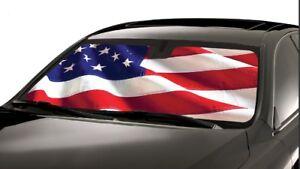 USA American Flag Custom Fit Sun Shade Windshield Ford Tempo 1983-1994  FD-57-US