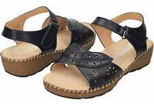 Navy Blue Open Toe Slingback Wedge Sandals ladies size uk 5 / 38 z-15 Navy