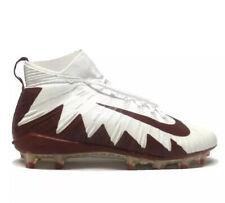 Nike Alpha Menace Elite White Crimson Red Football Cleats 877141 161 Mens Sz 15