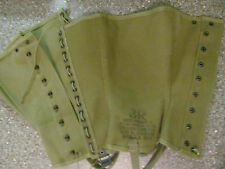 WWII WW2 US ARMY M1938 CANVAS LEGGINGS SPATS GAITERS SIZE 3R REPRODUCTION