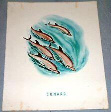 MARITIME : Cunard (Queen Mary) Programme 22.04.1954