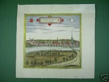 GENNEP, Limburg  kol. Kupferstich, Bild von Gennep  von 1575 original