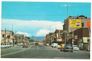 1950s Main Street Looking East Price Utah Pepsi/Chevrolet/Savoy Signs,Postcard