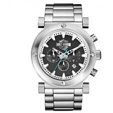Harley Davidson 76B166 Gent's Grey Bar Shield Chronograph Watch