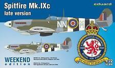 Eduard 1/72 Supermarine Spitfire Mk IXc tarde versión # K7431.
