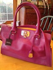 4ebe057668d New ListingNWT COLE HAAN VALISE KENDRA Pink Leather Satchel Cross-body  LARGE Tote Bag Purse