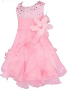 Neu! Baby kleid Taufe, Hochzeit, Blumenmädchen, Ball-Kleid, rosa Gr.68/74 iEFiEL