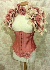 "20"" waist SILK corset Steel Boned Heavy Lacing  underbust Shaper Corset"
