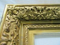 "SM Antique Fit 6X 8"" Lemon Gold Gilt Picture Frame Wood Gesso Fine Art MINIATURE"