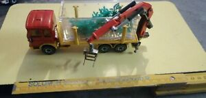 Camion grue M.A.N miniature transport d'arbres SIKU