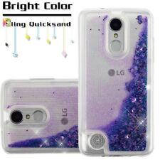 LG Stylo 4 /Plus Hybrid Liquid Glitter Bling Rubber Silicone TPU +Kit Case Cover