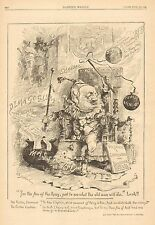 Political Cartoon, General Butler, Massachusetts, Vintage 1883 Antique Art Print