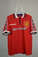 MANCHESTER UNITED home shirt jersey UMBRO 1998-2000 MU adult SIZE L #99 Treble