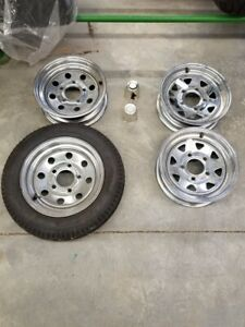 "CHROMED STEEL 5 BOLT 12"" X 4"" RIM, DENRAY, FIBRO CONCEPT TRAILERS + OTHERS, USED"