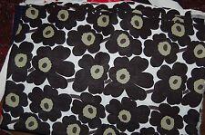"Marimekko Mini Unikko fabric fat quarter 18"" x 28"", cotton, Finland, black Isola"