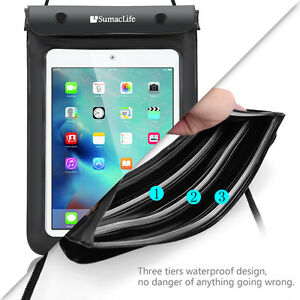 "Waterproof Tablet Pouch Dry Bag Case For 8"" Samsung Galaxy Tab A / Lenovo Tab E8"
