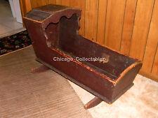 Vintage Antique Wooden 1790 Baby Cradle / Bed - Very Rare