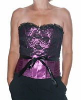 REDUCED Purple Corset Black Lace sizes 8 10 12 Corsets Basque sexy Basques