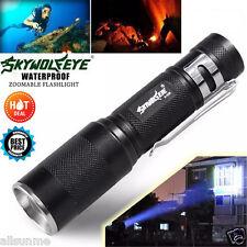 SUPER BRILLANTE 5000LM a zoom regolabile CREE XM-L Q5 torcia LED 3 modalità