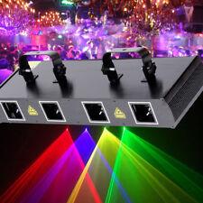 4 Lens 4 Beam RGPY DJ Disco Laser Light Stage Party Show DMX 7CH 460mW US Plug G