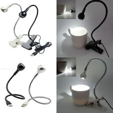 Flexible USB LED Light Clip-on Bed Table Desk Study Reading Book Lamp Gifts