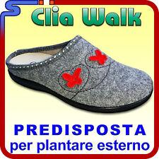 PANTOFOLA INVERNALE IN PANNO CLIA WALK COLORE GRIGIO PANTOFOLE PREDISPOSTA FLY 4