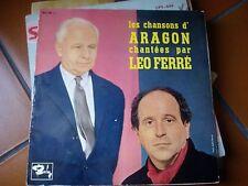 """LP 10"""" 25 CM LES CHANSONS D'ARAGON CHANTEES PAR LEO FERRE' GATEFOLD EX/VG/VG+"""
