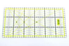 Gelbes Patchwork Lineal 30x15cm mit Zentimeterraster Aktionspreis!!!!!