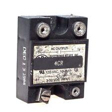 ERI ELECTRONIC RELAYS INC 4CR 120VAC 10 AMP INPUT 3-32VDC INPUT RELAY USED (G14)