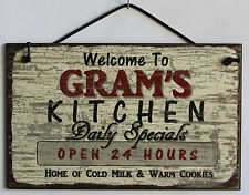 Gram s Sign Kitchen Grandma Mom Diner House Bake Cook Cookie Grand Parent Home