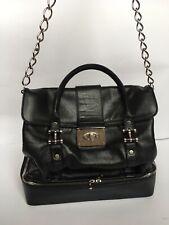 LANVIN Large Black Lambskin Leather Handbag