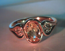 10K SOLID ROSE GOLD RING, 0.93 CT NATURAL OVAL PRECIOUS TOPAZ, UNTREATED